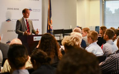 Transcript: Sutherland's Congressional Series event with Rep. Ben McAdams and visiting scholar William Smith